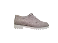 Waldlaufer 'Elisa' Lace Up In Grey and Silver